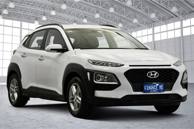 Used Hyundai Kona OS.2 MY19 Active 2WD Victoria Park, 2018 Hyundai Kona OS.2 MY19 Active 2WD Chalk White 6 Speed Sports Automatic Wagon