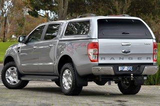 2015 Ford Ranger PX MkII XLT Double Cab Silver, Chrome 6 Speed Sports Automatic Utility.