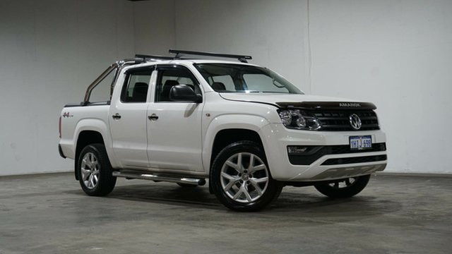 Used Volkswagen Amarok 2H MY19 TDI420 4MOTION Perm Core Welshpool, 2018 Volkswagen Amarok 2H MY19 TDI420 4MOTION Perm Core White 8 Speed Automatic Cab Chassis