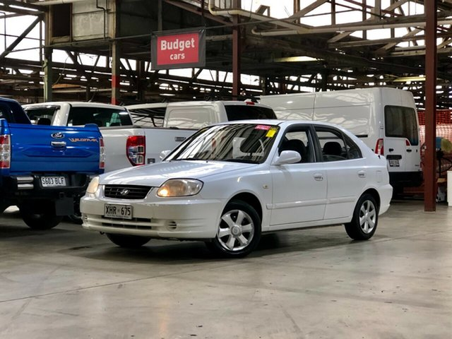 Used Hyundai Accent LC MY04 GL Mile End South, 2005 Hyundai Accent LC MY04 GL White 4 Speed Automatic Hatchback