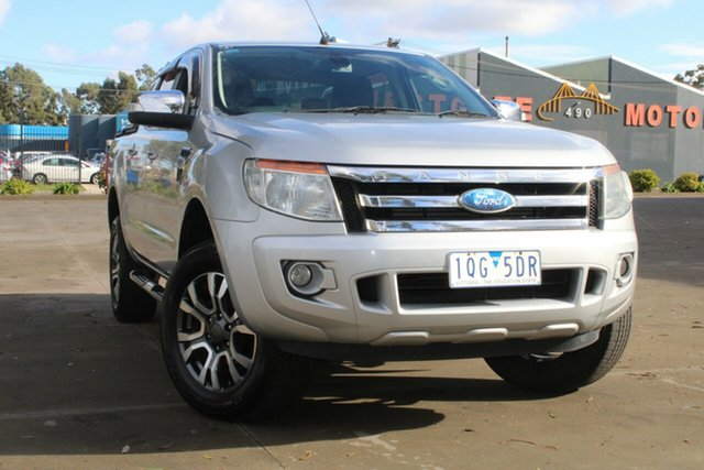 Used Ford Ranger PX XLT 3.2 Hi-Rider (4x2) West Footscray, 2012 Ford Ranger PX XLT 3.2 Hi-Rider (4x2) 6 Speed Automatic Crew Cab Pickup