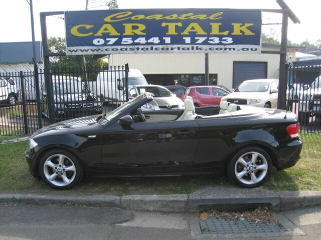 Used BMW 120i E88 MY09 Nambour, 2009 BMW 120i E88 MY09 Black 6 Speed Automatic Convertible