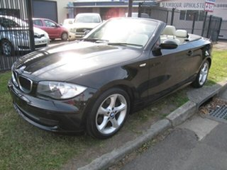 2009 BMW 120i E88 MY09 Black 6 Speed Automatic Convertible.