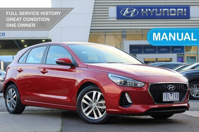 Used Hyundai i30 PD MY18 Active South Melbourne, 2017 Hyundai i30 PD MY18 Active Red 6 Speed Manual Hatchback