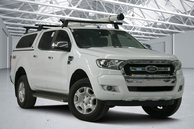 Used Ford Ranger PX MkII MY17 XLT 3.2 (4x4) Altona North, 2017 Ford Ranger PX MkII MY17 XLT 3.2 (4x4) Frozen White 6 Speed Automatic Double Cab Pick Up