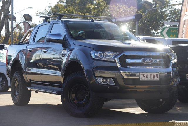 Used Ford Ranger PX MkII XLT Double Cab Toowoomba, 2017 Ford Ranger PX MkII XLT Double Cab Grey 6 Speed Sports Automatic Utility