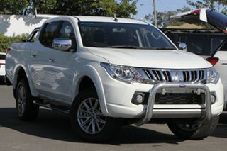 2016 Mitsubishi Triton MQ MY17 GLS Double Cab White 5 Speed Sports Automatic Utility.