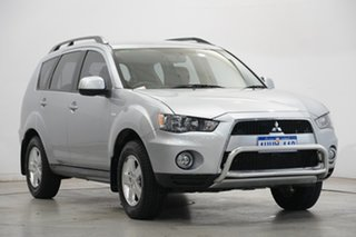 2011 Mitsubishi Outlander ZH MY11 LS 2WD Cool Silver 6 Speed Constant Variable Wagon