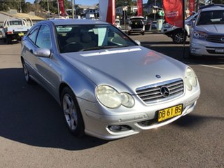 2005 Mercedes-Benz C-Class CL203 MY2006 C180 Kompressor Sports Silver 5 Speed Automatic Coupe.