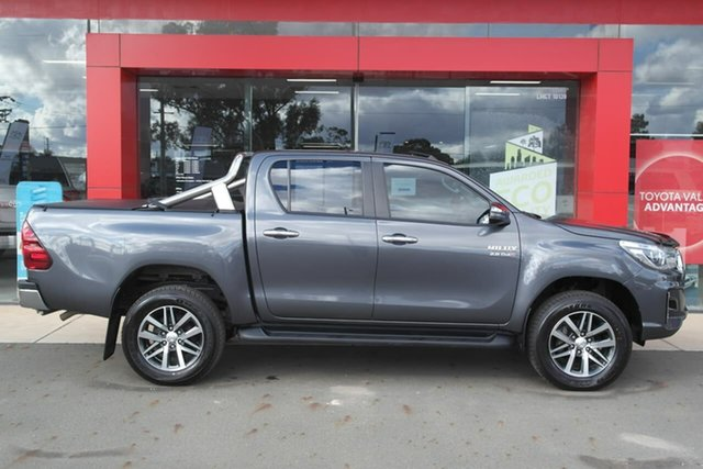 Pre-Owned Toyota Hilux GUN126R SR5 Double Cab Swan Hill, 2018 Toyota Hilux GUN126R SR5 Double Cab Grey 6 Speed Sports Automatic Utility