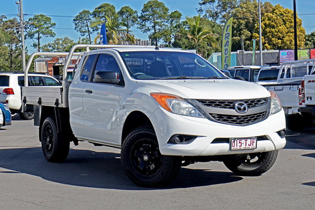 Used Mazda BT-50 UP0YF1 XT Freestyle Chandler, 2013 Mazda BT-50 UP0YF1 XT Freestyle Cool White 6 Speed Manual Cab Chassis