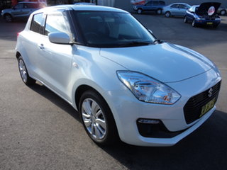 2018 Suzuki Swift AL GL Navigator (safety) Cool White Pearl Continuous Variable Hatchback