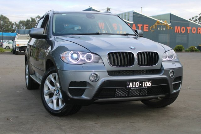 Used BMW X5 E70 MY12 Upgrade xDrive30d West Footscray, 2013 BMW X5 E70 MY12 Upgrade xDrive30d Grey 8 Speed Automatic Sequential Wagon