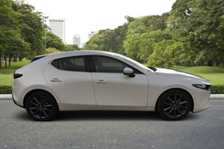 2021 Mazda 3 BP2H7A G20 SKYACTIV-Drive Touring White Pearl 6 Speed Sports Automatic Hatchback.
