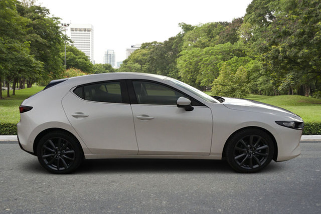 Demo Mazda 3 BP2H7A G20 SKYACTIV-Drive Touring Paradise, 2021 Mazda 3 BP2H7A G20 SKYACTIV-Drive Touring White Pearl 6 Speed Sports Automatic Hatchback