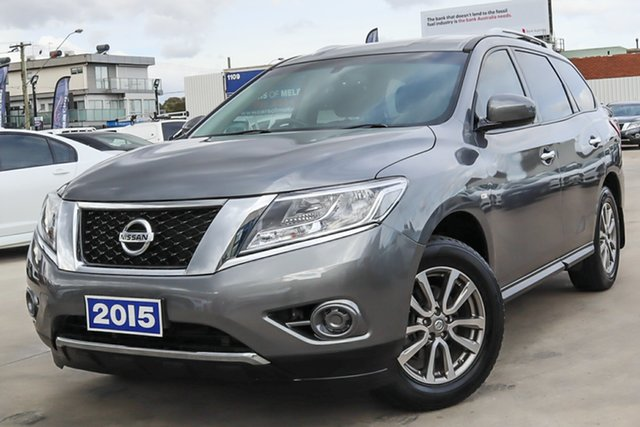 Used Nissan Pathfinder R52 MY15 ST X-tronic 2WD Coburg North, 2015 Nissan Pathfinder R52 MY15 ST X-tronic 2WD Grey 1 Speed Constant Variable Wagon