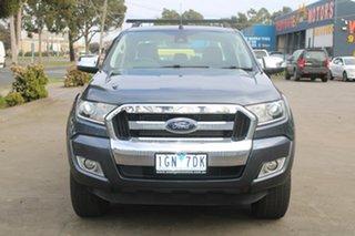 2015 Ford Ranger PX XLT 3.2 Hi-Rider (4x2) Grey 6 Speed Manual Crew Cab Pickup.