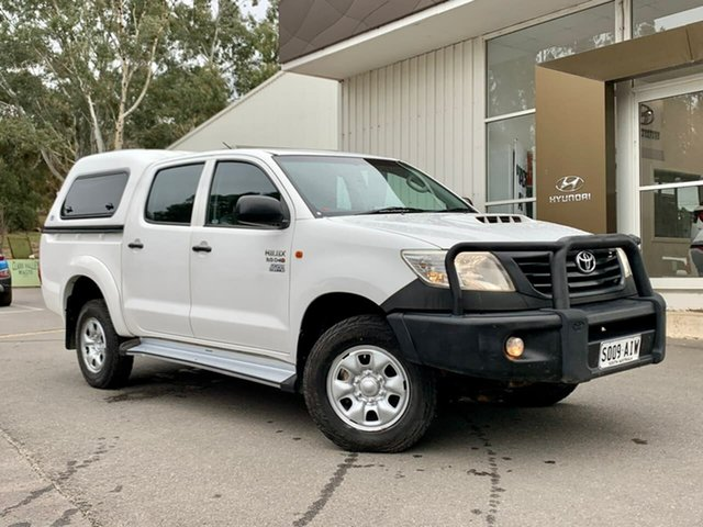 Used Toyota Hilux KUN26R MY12 Workmate Double Cab Clare, 2012 Toyota Hilux KUN26R MY12 Workmate Double Cab White 4 Speed Automatic Utility