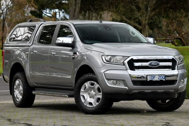 Used Ford Ranger PX MkII XLT Double Cab Dandenong, 2015 Ford Ranger PX MkII XLT Double Cab Silver, Chrome 6 Speed Sports Automatic Utility