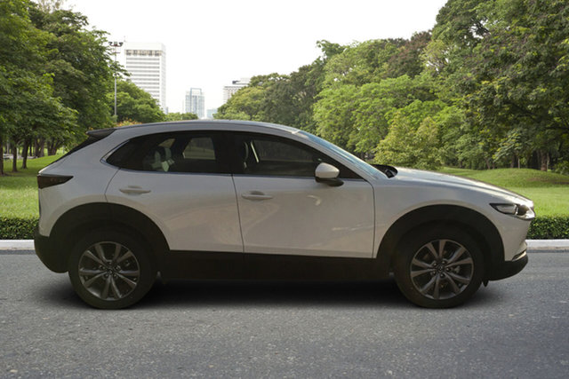 Demo Mazda CX-30 DM2W7A G20 SKYACTIV-Drive Evolve Paradise, 2021 Mazda CX-30 DM2W7A G20 SKYACTIV-Drive Evolve White Pearl 6 Speed Sports Automatic Wagon
