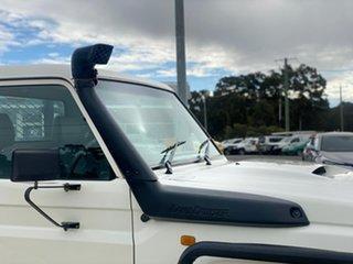 2007 Toyota Landcruiser GXL White Manual Cab Chassis - Single Cab