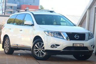 2016 Nissan Pathfinder R52 MY15 Upgrade ST-L (4x2) White Continuous Variable Wagon.