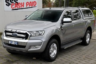 2015 Ford Ranger PX MkII XLT Double Cab Silver, Chrome 6 Speed Sports Automatic Utility