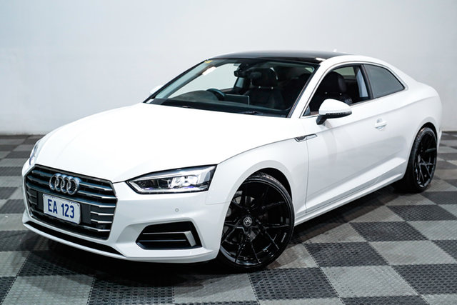 Used Audi A5 F5 MY17 Sport S Tronic Edgewater, 2017 Audi A5 F5 MY17 Sport S Tronic White 7 Speed Sports Automatic Dual Clutch Coupe