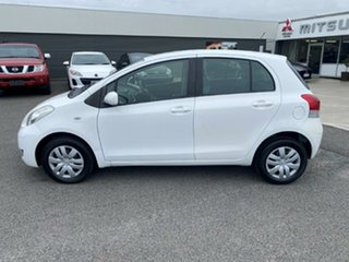 2011 Toyota Yaris NCP90R MY11 YR White 4 Speed Automatic Hatchback