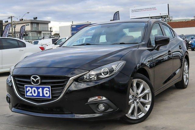 Used Mazda 3 BM5236 SP25 SKYACTIV-MT Coburg North, 2016 Mazda 3 BM5236 SP25 SKYACTIV-MT Black 6 Speed Manual Sedan