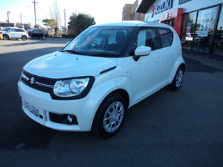 2016 Suzuki Ignis MF GL Cool White Continuous Variable Wagon.