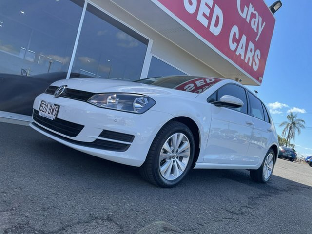 Used Volkswagen Golf VII MY14 90TSI DSG Comfortline Bundaberg, 2014 Volkswagen Golf VII MY14 90TSI DSG Comfortline White 7 Speed Sports Automatic Dual Clutch