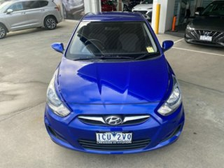 2014 Hyundai Accent RB2 MY15 Active Blue 4 Speed Sports Automatic Hatchback