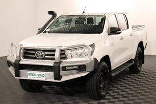 2016 Toyota Hilux GUN126R SR Double Cab Glacier 6 speed Automatic Utility.