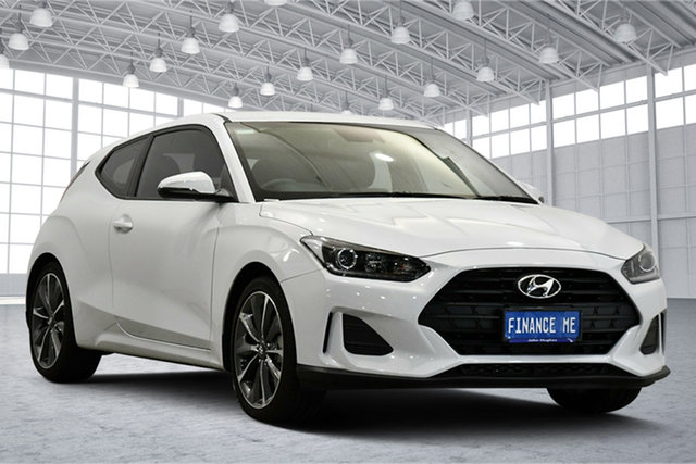 Used Hyundai Veloster JS MY20 Coupe Victoria Park, 2019 Hyundai Veloster JS MY20 Coupe Chalk White 6 Speed Automatic Hatchback