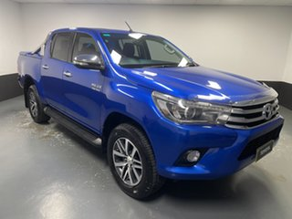 2016 Toyota Hilux GUN126R SR5 Double Cab Blue 6 Speed Manual Utility.