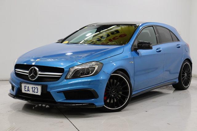 Used Mercedes-Benz A-Class W176 A45 AMG SPEEDSHIFT DCT 4MATIC Brooklyn, 2014 Mercedes-Benz A-Class W176 A45 AMG SPEEDSHIFT DCT 4MATIC Blue 7 Speed