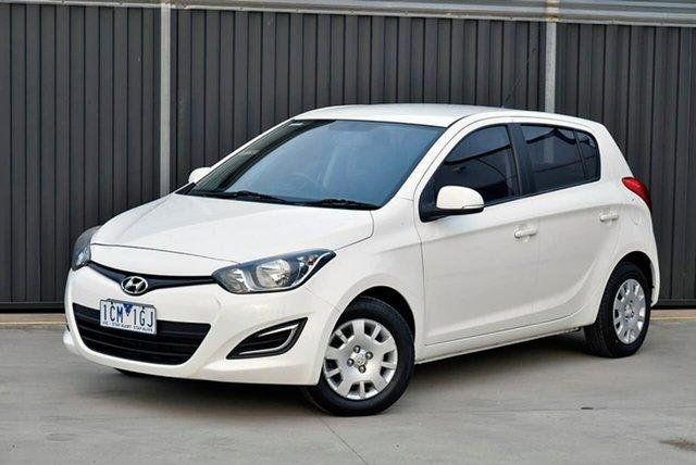 Used Hyundai i20 PB MY14 Active Pakenham, 2014 Hyundai i20 PB MY14 Active White 4 Speed Automatic Hatchback