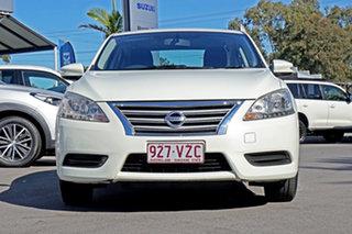 2013 Nissan Pulsar B17 ST White 1 Speed Constant Variable Sedan.