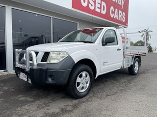2008 Nissan Navara D40 RX White 6 Speed Manual Cab Chassis