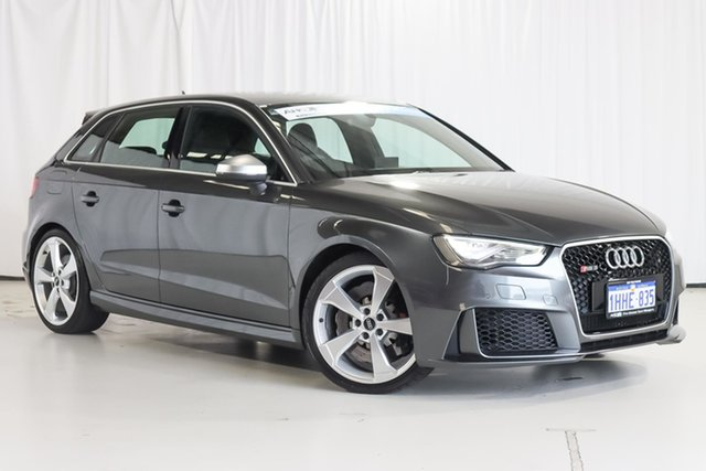 Used Audi RS 3 8V MY16 Sportback S Tronic Quattro Wangara, 2016 Audi RS 3 8V MY16 Sportback S Tronic Quattro Grey 7 Speed Sports Automatic Dual Clutch