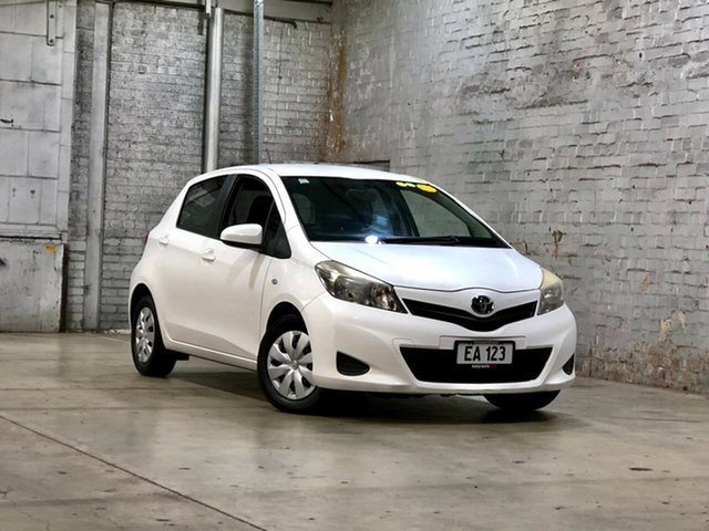 Used Toyota Yaris NCP130R YR Mile End South, 2012 Toyota Yaris NCP130R YR White 4 Speed Automatic Hatchback