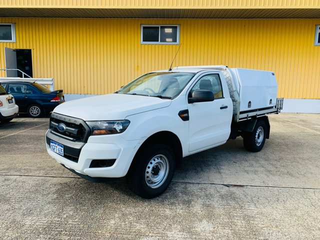 Used Ford Ranger PX MkII XL Hi-Rider Canning Vale, 2016 Ford Ranger PX MkII XL Hi-Rider White 6 Speed Manual Cab Chassis
