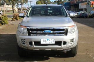 2012 Ford Ranger PX XLT 3.2 Hi-Rider (4x2) Silver 6 Speed Automatic Crew Cab Pickup.