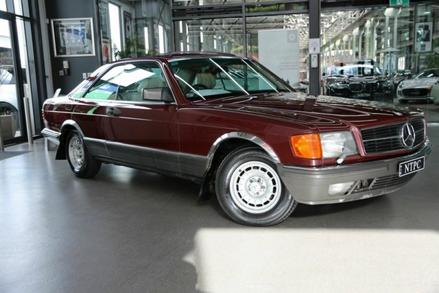 Used Mercedes-Benz 380SEC C126 North Melbourne, 1985 Mercedes-Benz 380SEC C126 Maroon 4 Speed Automatic Coupe