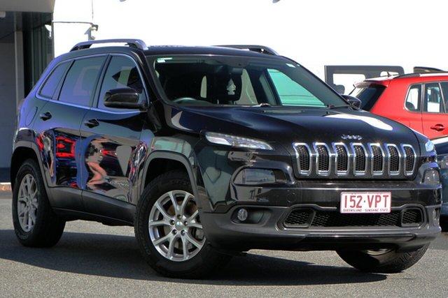 Used Jeep Cherokee KL Longitude Mount Gravatt, 2014 Jeep Cherokee KL Longitude Black 9 Speed Sports Automatic Wagon