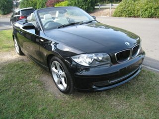 2009 BMW 120i E88 MY09 Black 6 Speed Automatic Convertible