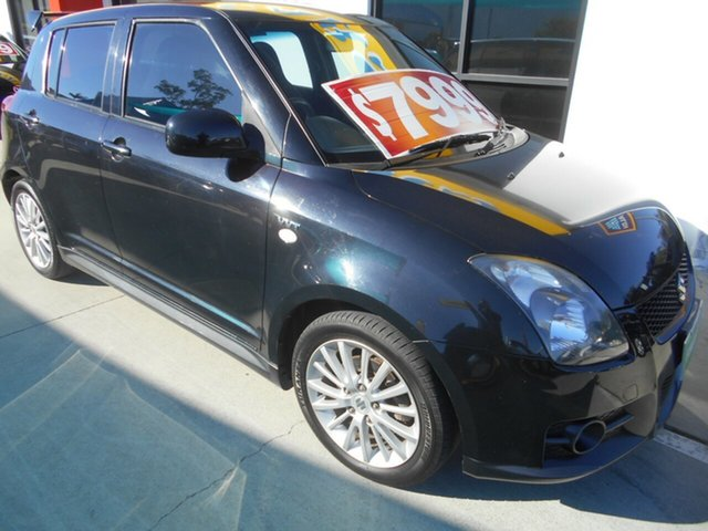 Used Suzuki Swift RS416 Sport Springwood, 2006 Suzuki Swift RS416 Sport Black 5 Speed Manual Hatchback