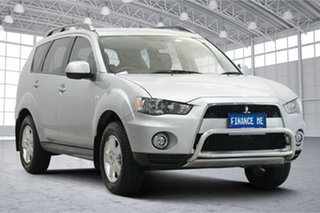 2011 Mitsubishi Outlander ZH MY11 LS 2WD Cool Silver 6 Speed Constant Variable Wagon.
