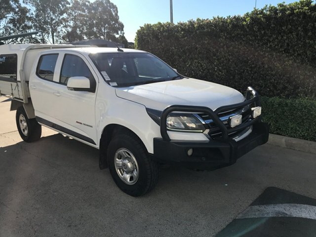Used Holden Colorado RG MY17 LS Crew Cab Acacia Ridge, 2017 Holden Colorado RG MY17 LS Crew Cab White 6 speed Manual Cab Chassis